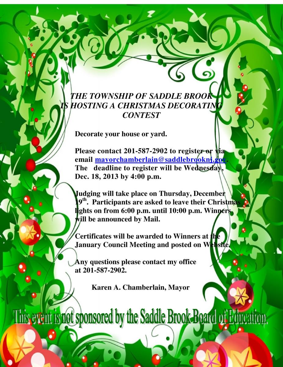 saddle brook tvcom journal christmas decorating contest winner - Christmas Decorating Contest