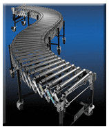 Flexible powered roller conveyor.