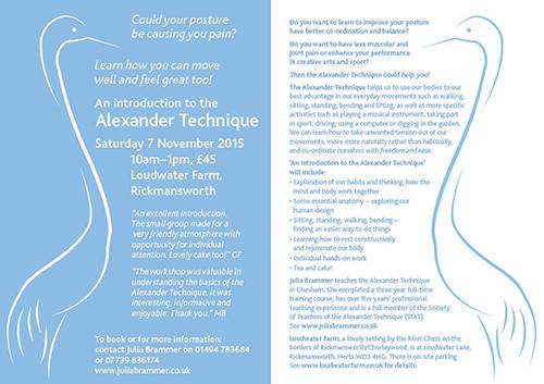 Alexander technique study uk