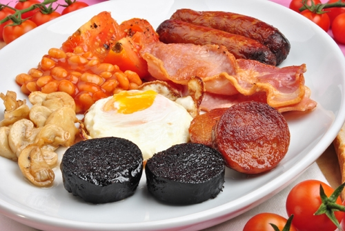 how to cook black pudding for breakfast