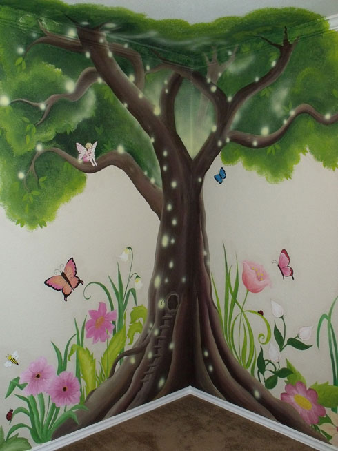 1000 ideas about tree wall painting on pinterest tree for Fairy garden mural