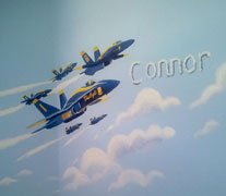 blue angels airplane mural