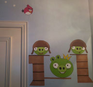 angry birds mural