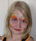 Halloween candycorn facepainting design