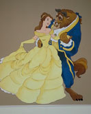 Beauty and the Beast Disney Mural
