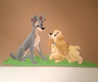 Lady and the Tramp Disney mural