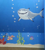 Arial Nemo under the sea Mural