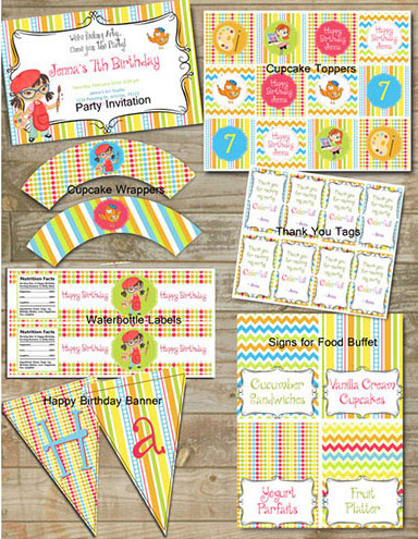 Customized Party Package Printables