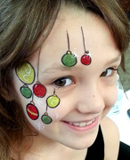 christmas baubles face painting