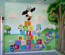 Disney playroom mural