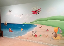 cute animals mural