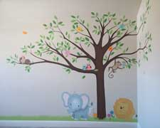 Safari nursery cute mural