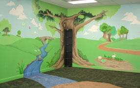 daycare play room mural