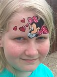 Minnie face painting