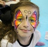 Butterfly rainbow face painting