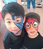 Dragon and Spiderman face painting