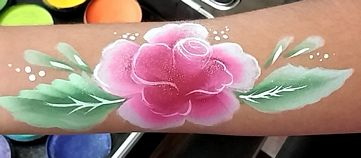 Rose arm painting