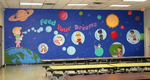 Mural for Ben Milam Elementary School in Dallas