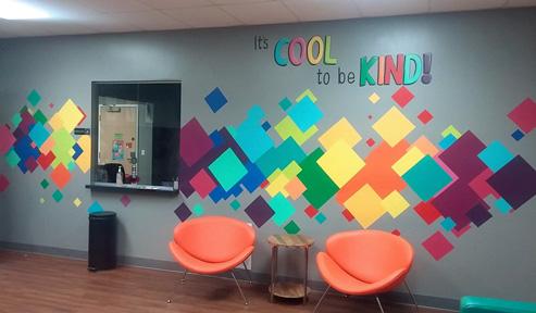 kids hospital mural