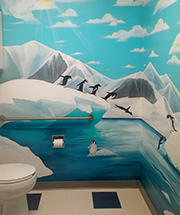 pediatric clinic hospital mural