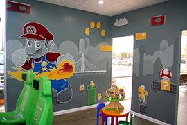Dental office business mural