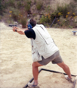 James Carr shooting at the range.