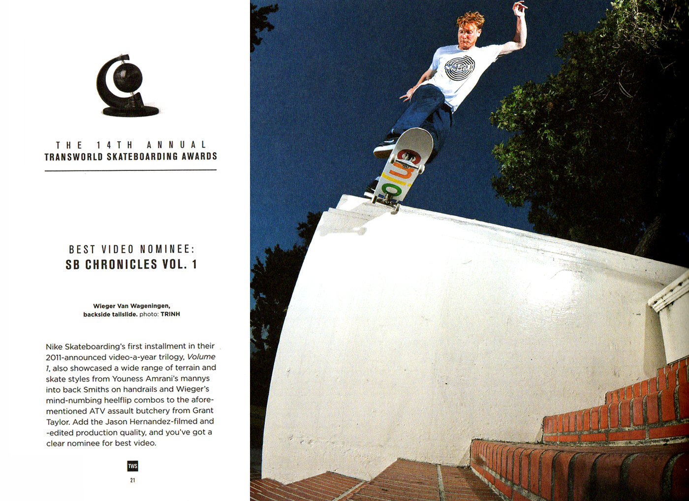 Dead Hippie - Magazines - Transworld SKATEboarding Copywriting