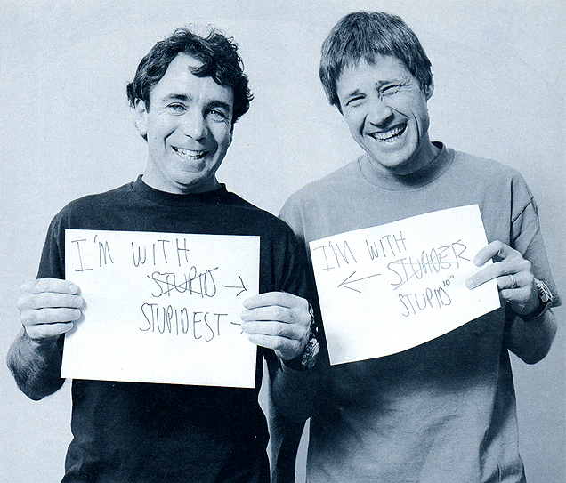 Photo of Rodney Mullen & his friend athlete  Steve  -