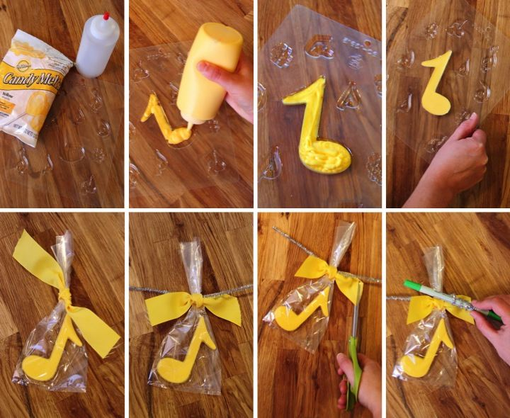 Music Themed Party Decorations Ideas Part - 34: Music Note Candy Party Favors