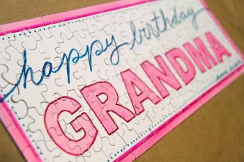 Diy Puzzle Birthday Gift For Grandma Jpg 350x233 Homemade Presents Picsbud