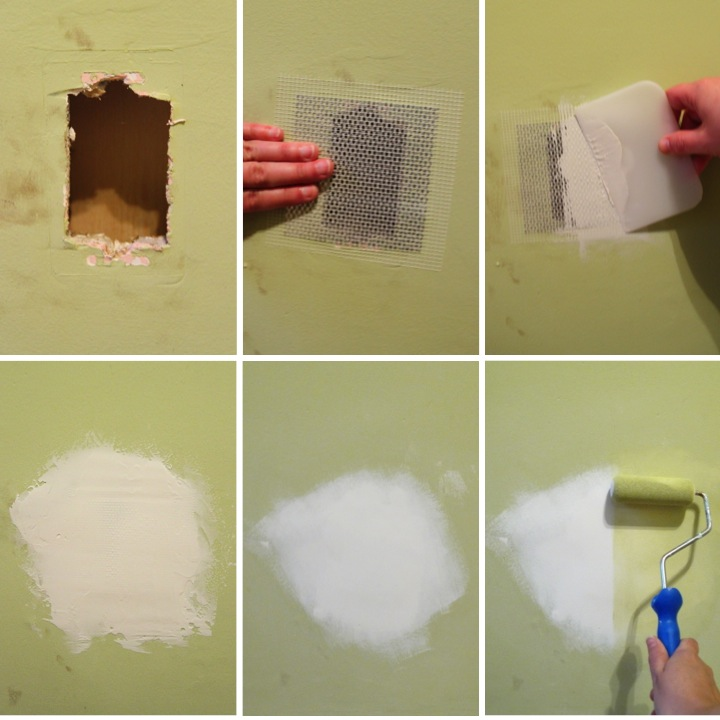 how to patch up a hole in the wall blog homeandawaywithlisa. Black Bedroom Furniture Sets. Home Design Ideas