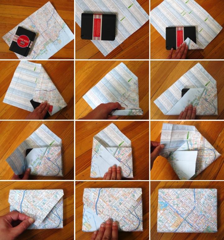 Упаковываем подарок своими руками в бумагу