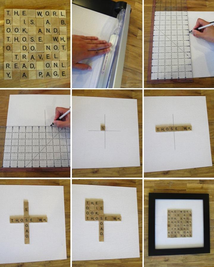 Scrabble Tile Wall Art - Blog - homeandawaywithlisa