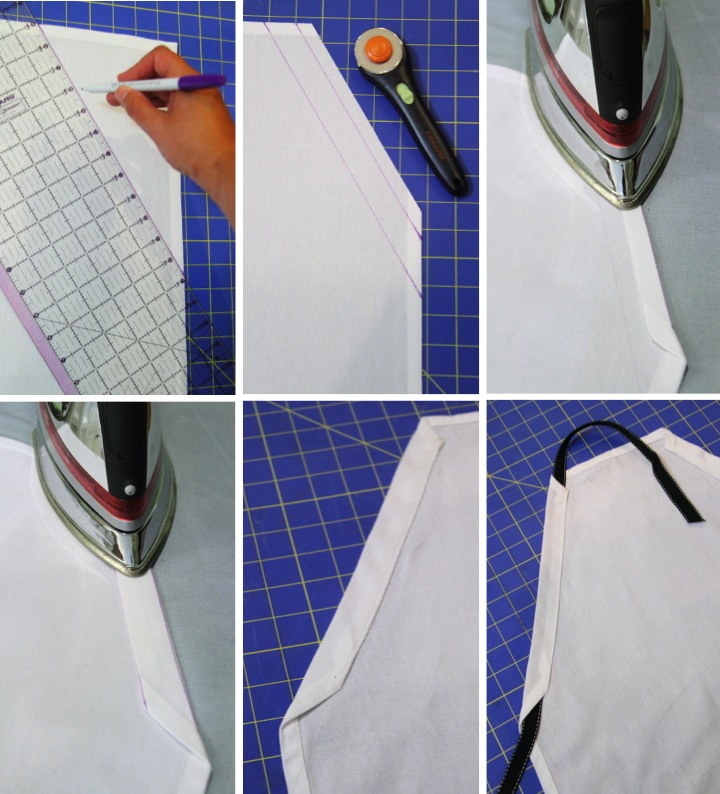 Making A Child's Apron from a Tea Towel - Blog