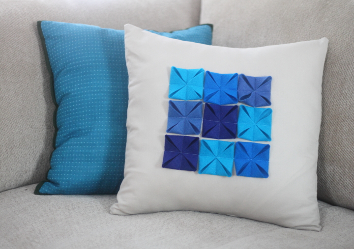 DIY Felt Accented Pillow Cover Blog Homeandawaywithlisa Interesting Making Pillow Covers