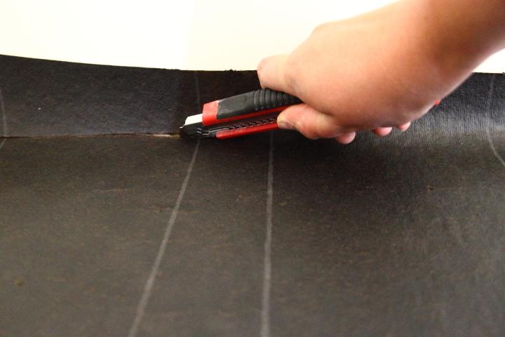 how to cut underlayment off subfloor