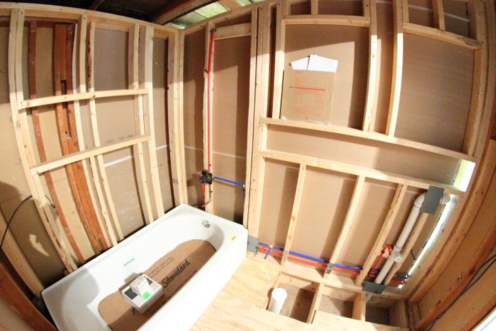 Plumbing In The Downstairs Bathroom Blog Homeandawaywithlisa - Plumbing a new bathroom
