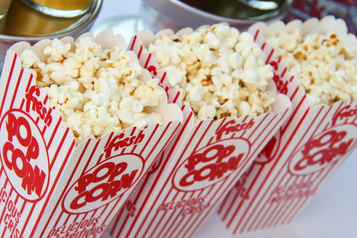 Image result for red and white popcorn boxes