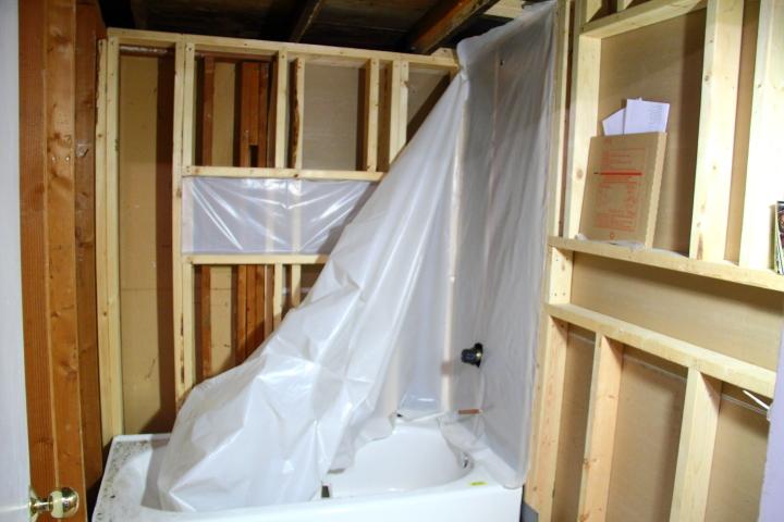 Installing The Vapor Barrier For The Bathroom Shower Blog