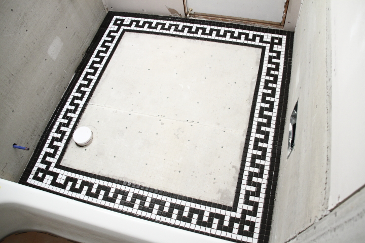 Vintage Mosaic Tile Border For The Downstairs Bathroom Blog