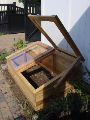 the microfarm cedar cold frame design offered exactly what she needed an attractive balance of form and function