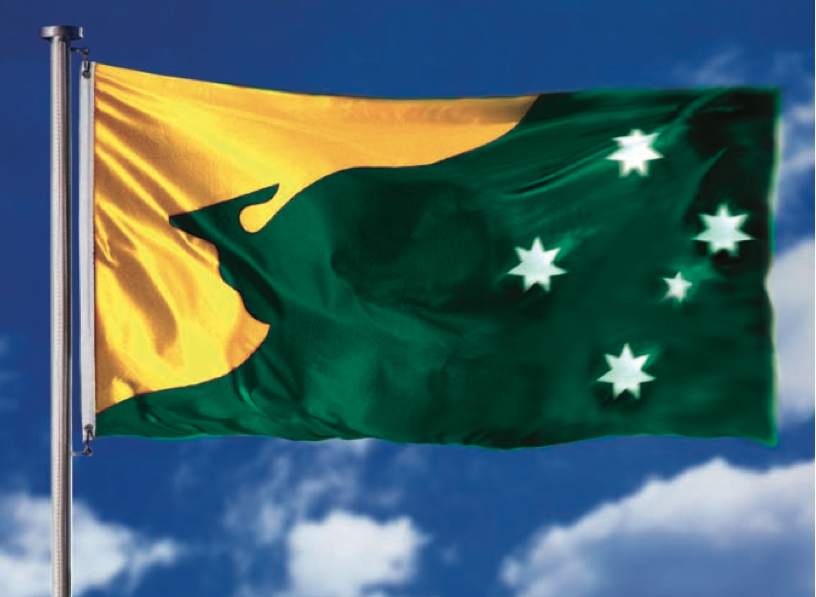 ensign shares the design of the advance australia national flag