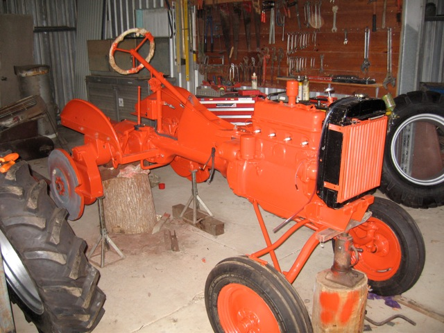 two cylinder vintage home vintage tractors john deere Allis Chalmers B Wiring new part and fittings were then fitted including, tyres, wiring harness, lights, gauges and decals i made an exhaust pipe for it with a muffler until i got allis chalmers b wiring