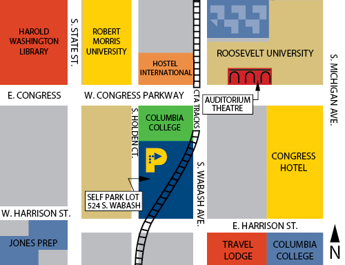 Loop Auto Parks - Loop Auto Parks Chicago Museum Campus Map on