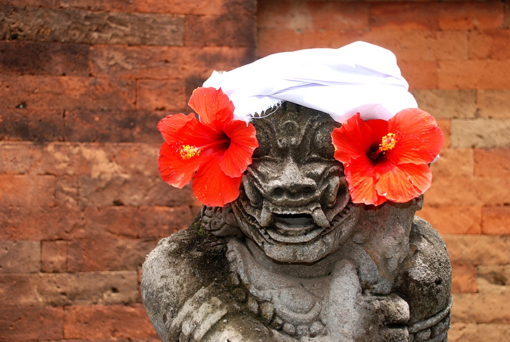 Red Flower Statue
