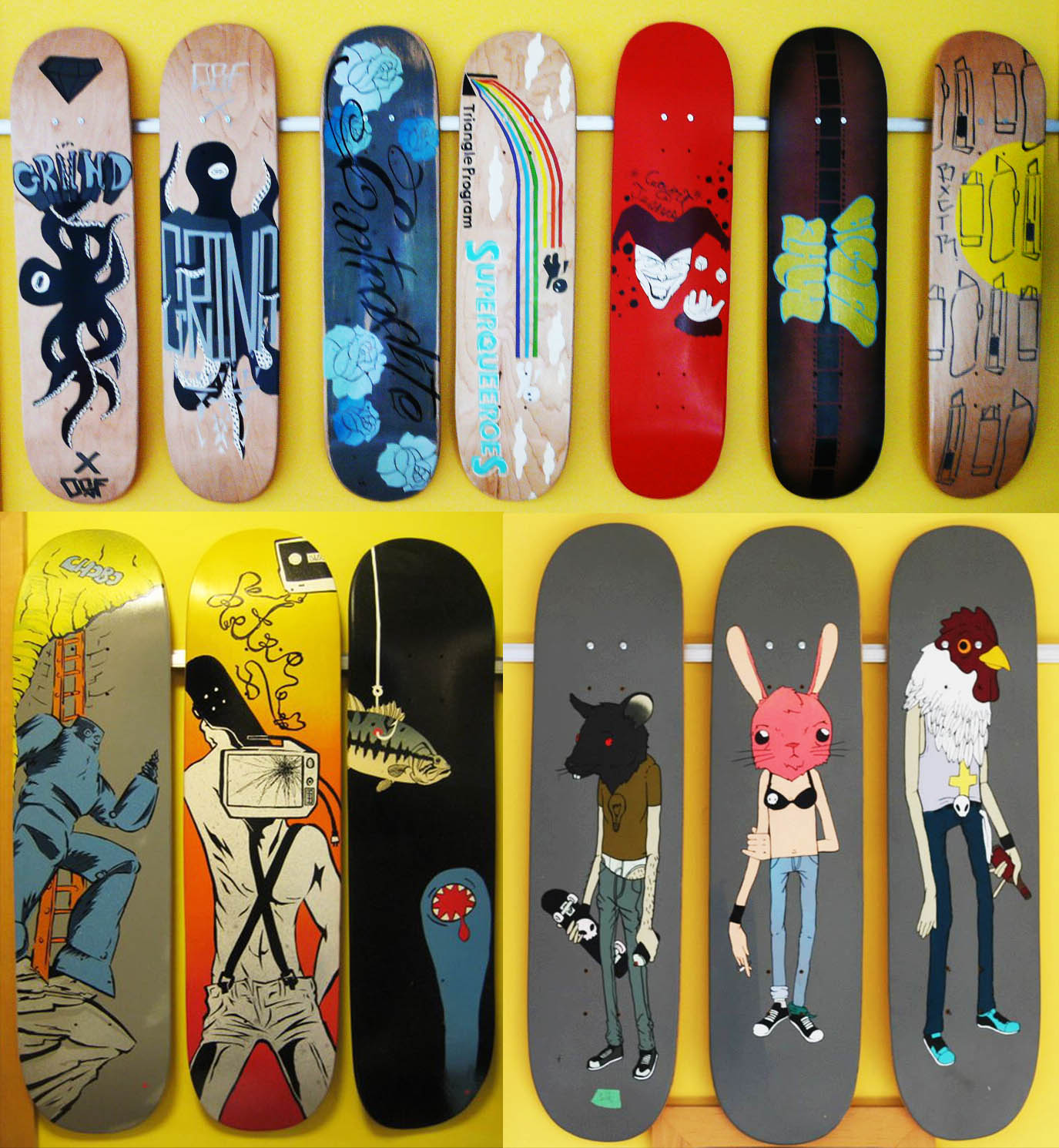 Colorful Skateboard Deck Wall Art Pictures - The Wall Art ...