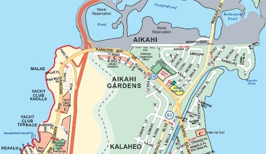 Aikahi Park Kailua Neighborhood Map
