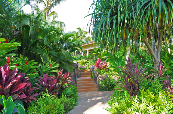 Luxury resort living at kukui 39 ula on kauai oahu hawaii for Tropical landscape