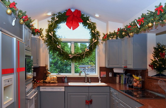 Kitchen Cabinets Ideas christmas decorating above kitchen cabinets : Decorate Above Kitchen Cabinets For Christmas - Sarkem.net