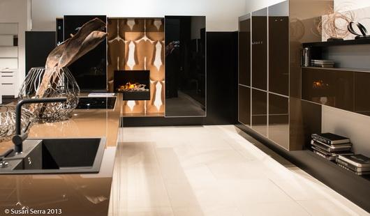 Gloss Color Blocking Kitchen Design Trends Livingkitchen